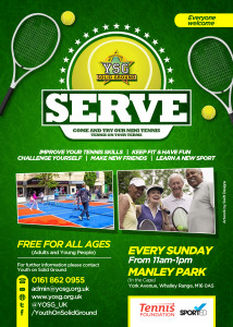 Mini Tennis with YSG- Sun 11-1pm.